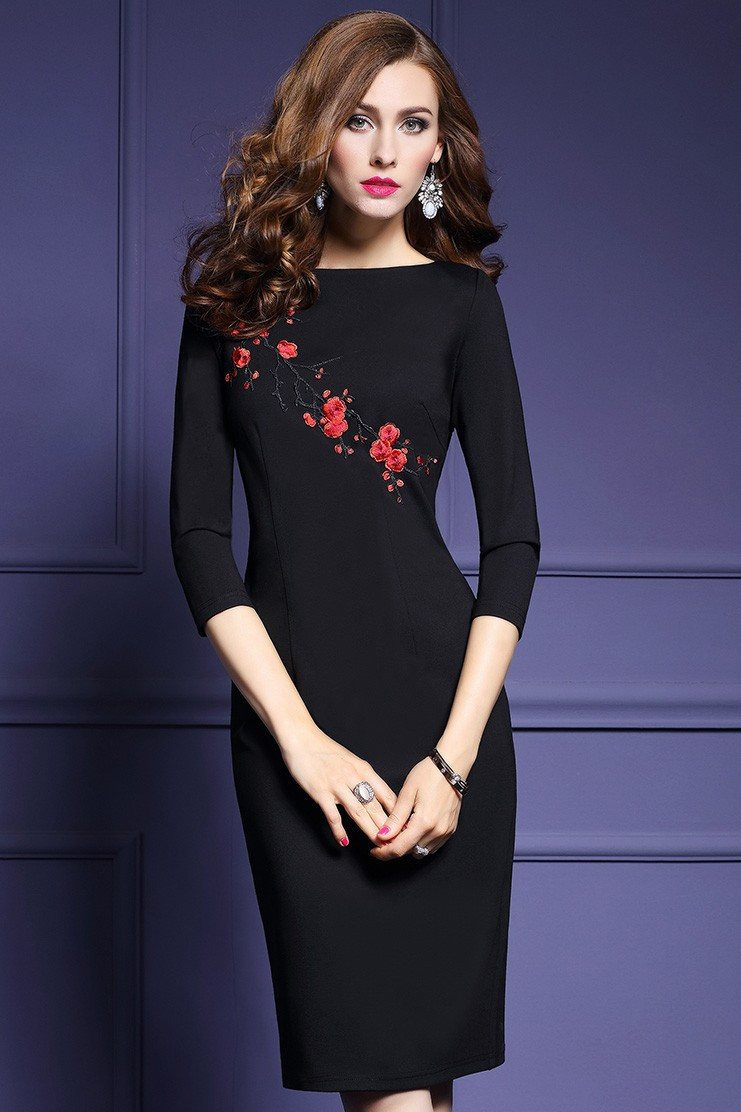 Dress - Roses Embroidery