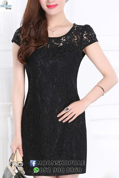 Dress - Short Black Lace