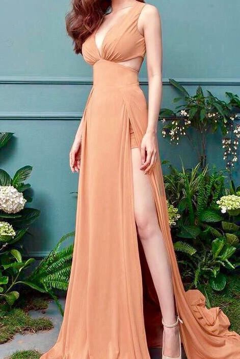 Cut Out Gown Slit