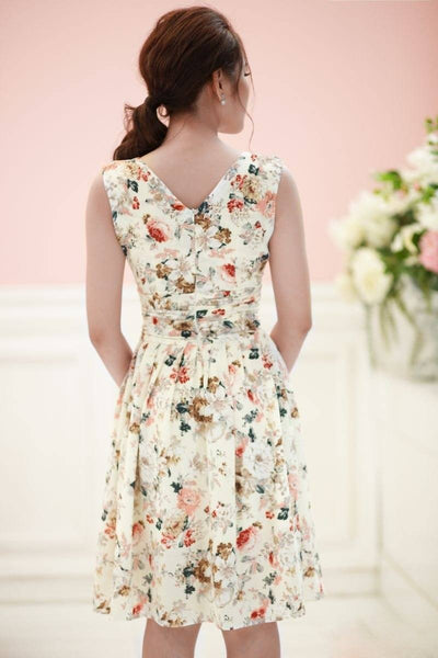 Dresses - Ivory Bouquet Print