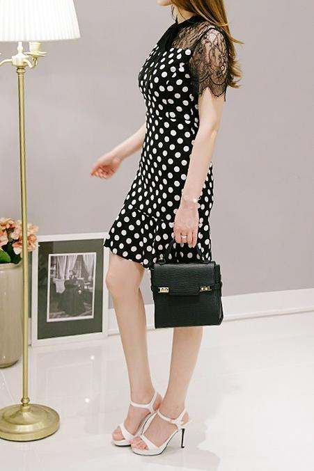 Lace Polka Dress