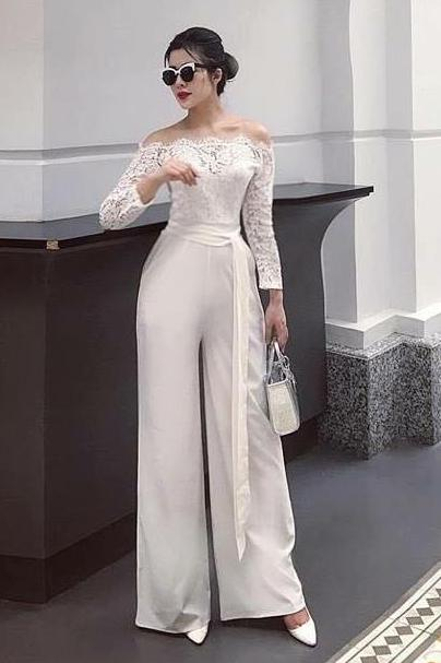 Lace Shoulder Jumpsuit
