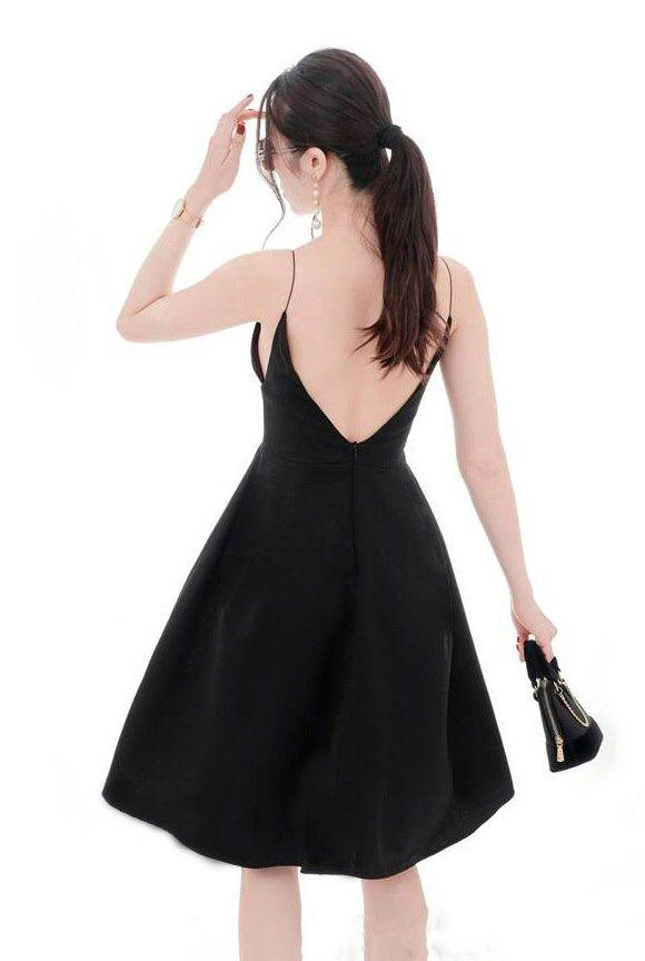Open Back Short Dress