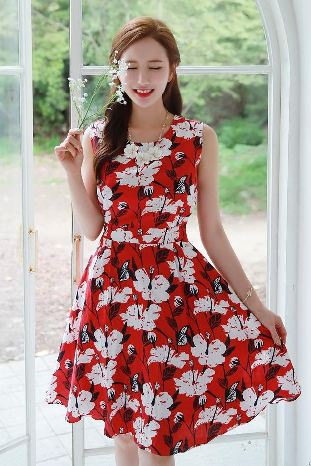 Red Tea Dress