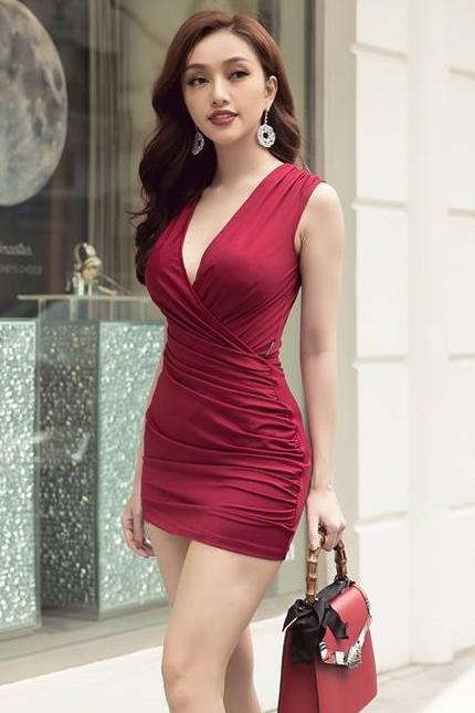 Short Maroon Bodycon