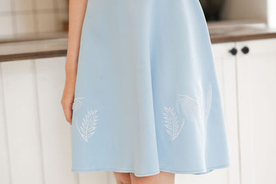 Dresses - Sky Leaf Embroidery