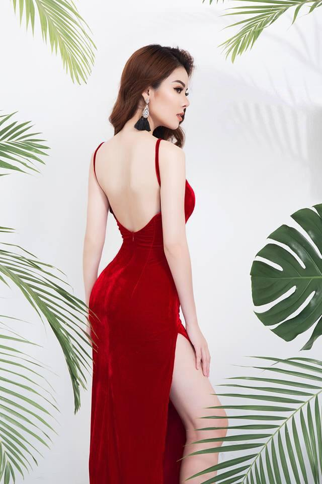 Velvet Slit Open Back