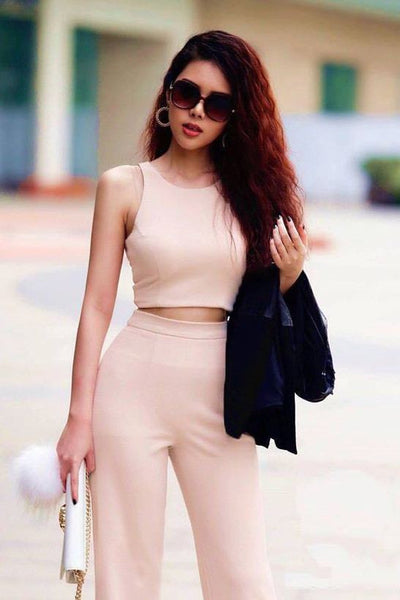 SET - Sleeveless Pant And Top Set