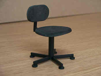 12th scale dollshouse miniature  modern swivel chair