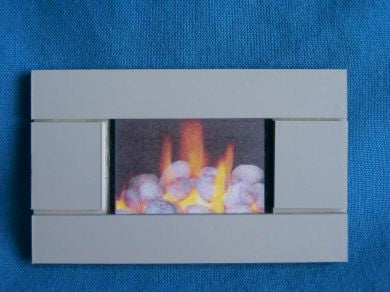 1/12 dollshouse miniature modern wall fire