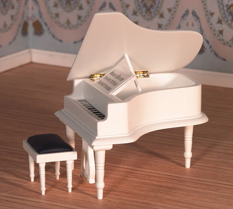 1:12 dollshouse miniature classical grand piano