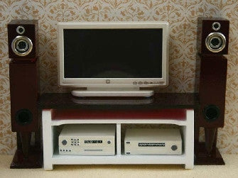 12th scale dollshouse miniature home entertainment system