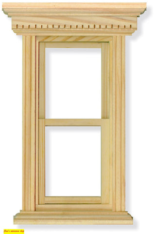 1:12 scale dolls house miniature selection of wooden  windows 5 to choose from. (set 2)