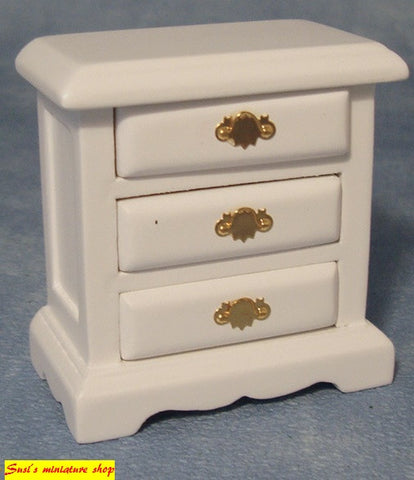 1:12 scale dollhouse miniature bedside cabinet with draws
