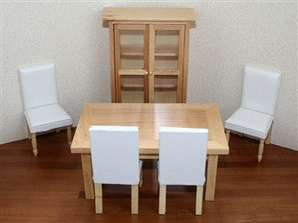 12th scale dollshouse miniature modern dining room set