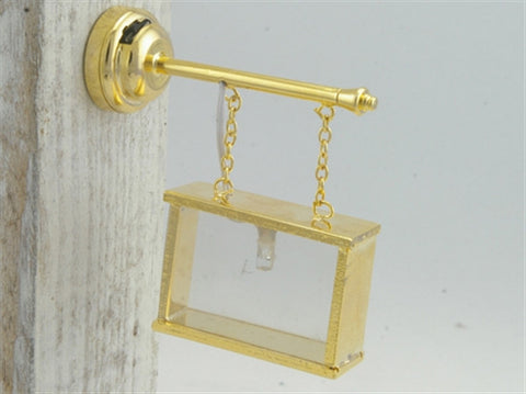 12th scale dollshouse miniature an LED brass sign case