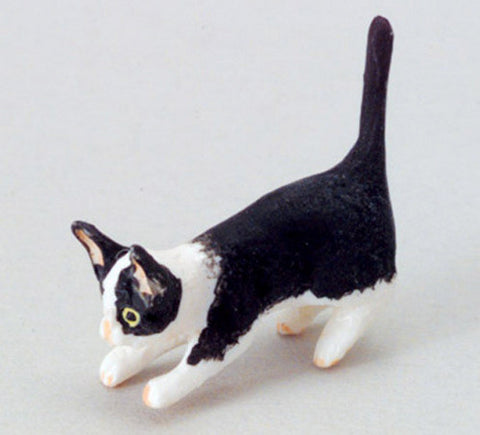 12th scale dollhouse miniature kitten playing