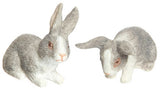12th scale dollshouse miniature pair of rabbits