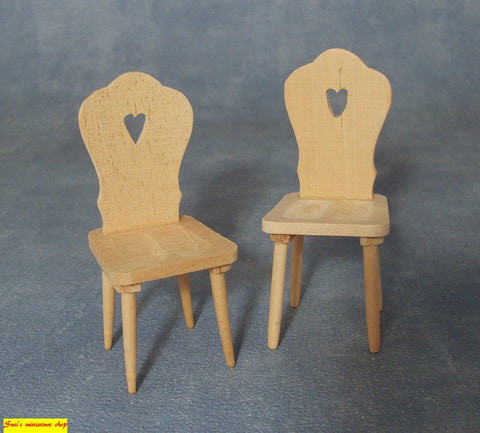 1:12 scale dollshouse miniature chairs & stools 6 to choose from