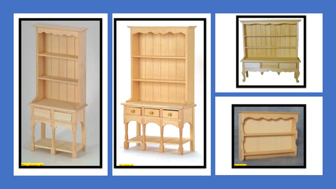 1:12 scale dolls house miniature selection of  barewood dressers 4 choose.