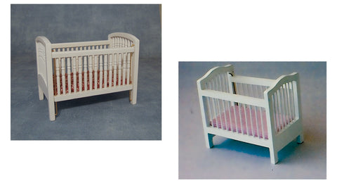 12th scale dollhouse miniature babies cot