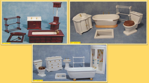 1/12 dollshouse miniature bathroom set