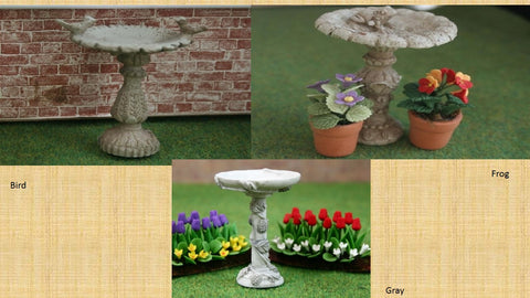 1/12 dollshouse miniature bird bath
