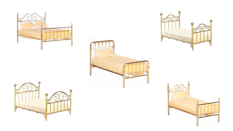 1/12 scale  dollshouse miniature  brass bed