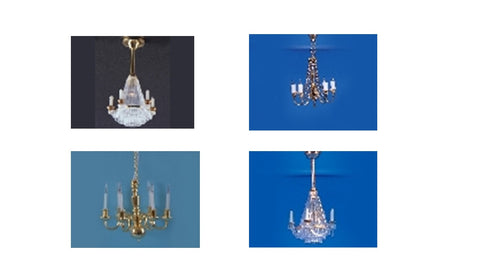 12th scale dollshouse miniature 12 volt chandelier