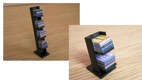 1/12 dollshouse miniature modern CD rack and CD,s
