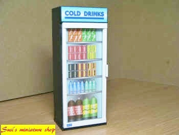 1:12 scale dollhouse miniature modern cold drinks machine 2 to choose from
