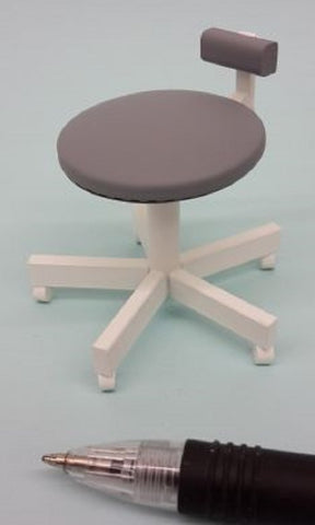 1:12 dolls house miniature modern dental chair/stools 2 to choose from. (NOT REAL)