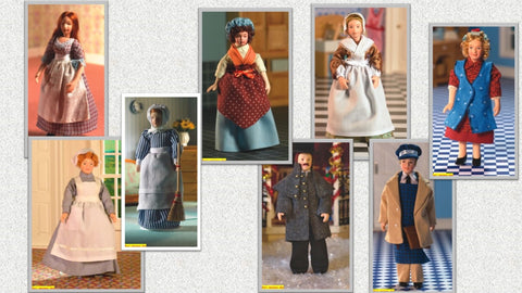 12th scale dollhouse miniature  domestic staff