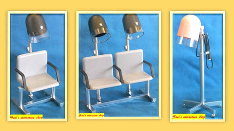 12th scale dollhouse miniature handmade hairdrying units