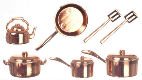 12th scale dollhouse miniature saucepan set