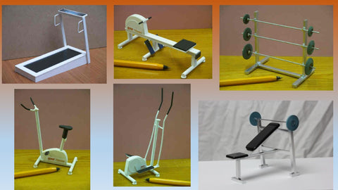1/12 dollshouse miniature  modern gym equipment