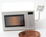 12th scale dollhouse miniature modern non opening microwave in different colours