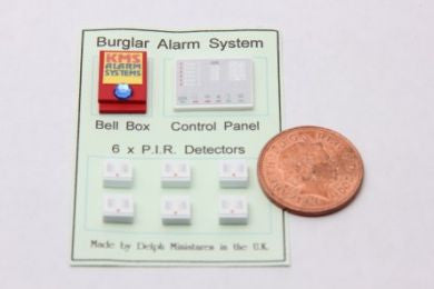 1:12 dolls house miniature security items 6 to choose from.