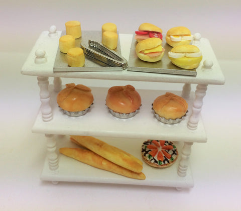 1:12  scale dollshouse miniature handmade O.O.A.K. bakery  shelves 2 to choose from.