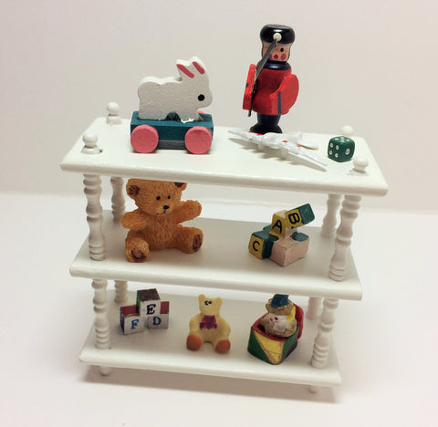 1:12 scale dolls house miniature handmade O.O.A.K toy  shelves 3 to choose.