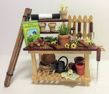 1:12 scale dolls house miniature handmade O.O.A.K potting bench 2 to choose.