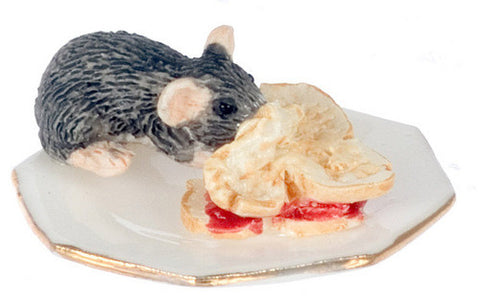 12th scale dollshouse miniature mischievous mice eating