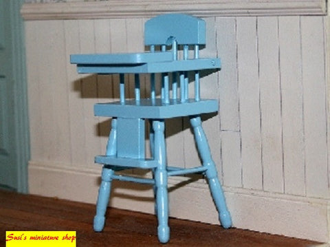 12th scale dollshouse miniature babies high chair various colours