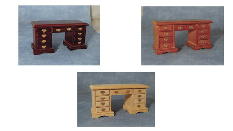 1/12 scale dollshouse miniature kneehole desk 3 choices