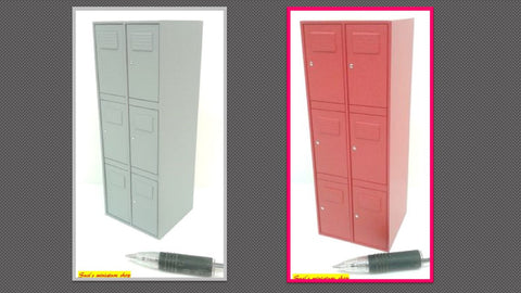 12th scale dollhouse miniature modern handmade gym locker