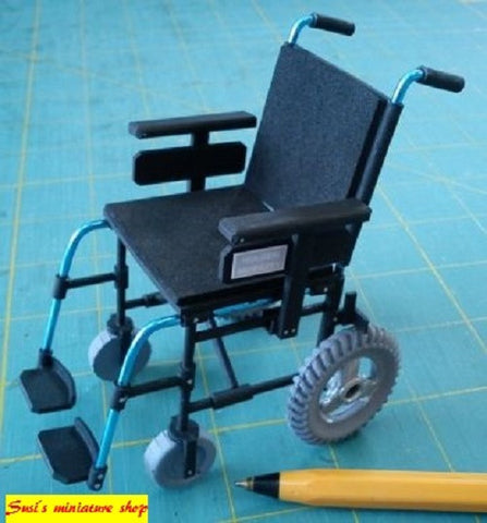 1:12 dolls house miniature modern wheelchair, walking aid 3 to choose (NOT REAL)