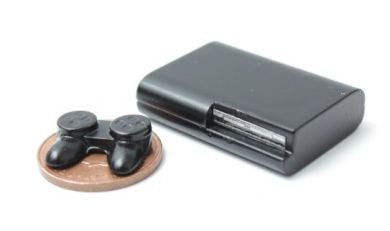 1/12 dollshouse miniature modern game station and control pad