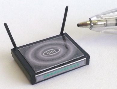 12th scale dollhouse miniature broadband router