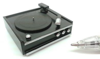 1:12 scale dolls house miniature handmade retro record player 2 to choose from.