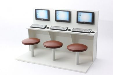 1/12 scale dollhouse miniature internet cafe unit